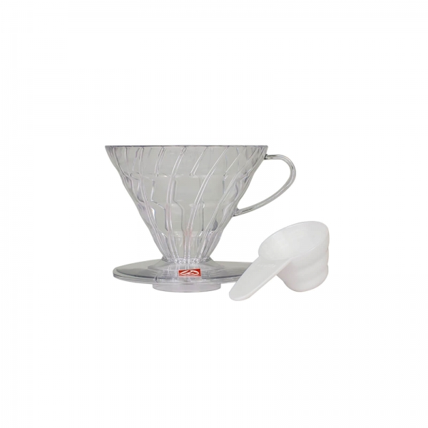 Coffe dripper plastikowy V60 02 Clear - Etno Cafe