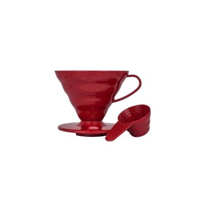 Coffe dripper plastikowy V60 02 Czerwony - Etno Cafe