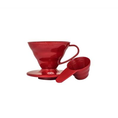 Coffe dripper plastikowy V60 01 Czerwony - Etno Cafe