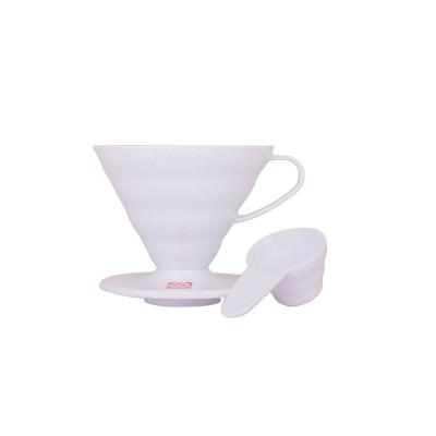 Coffe dripper plastikowy V60 02 Biały - Etno Cafe