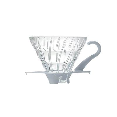 Coffee dripper szklany V60 01 biały - Etno Cafe