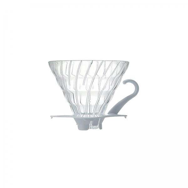 Coffee dripper szklany V60 biały - Etno Cafe