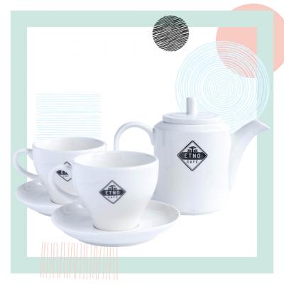 Angielski kwadrans - zestaw porcelany