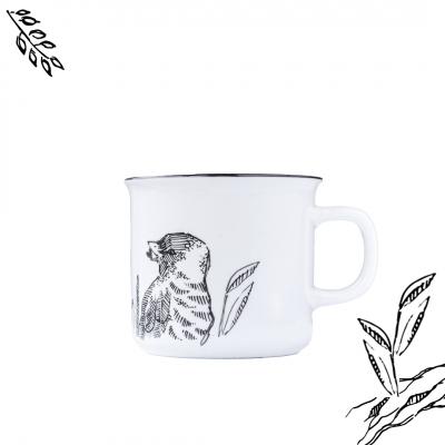 """Kubek ceramiczny Etno Cafe ręcznie malowany """"kawka to PTASZEK"""""""