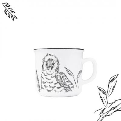 """Kubek ceramiczny Etno Cafe ręcznie malowany """"PORANNA kawka"""""""